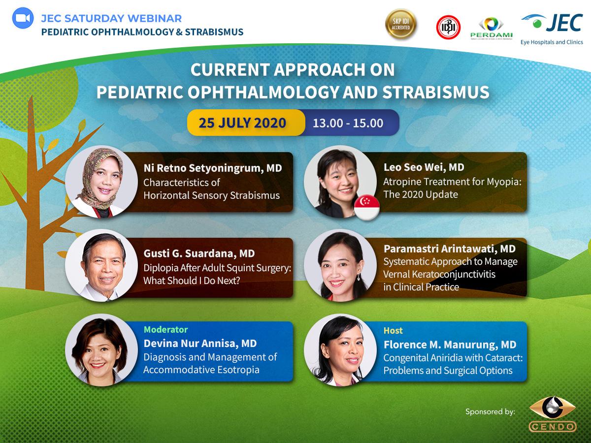 JEC Saturday Webinar - Pediatric Ophthalmology & Strabismus