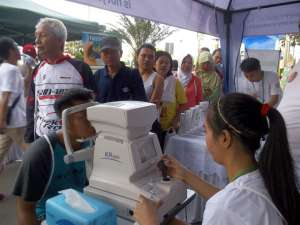 Booth Pameran World Sight Day 2014 PERDAMI - Fun Walk, Car Free Day Area, Thamrin